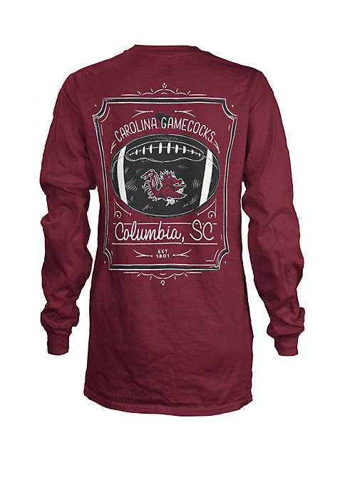 South Carolina Gamecocks Long Sleeve Framed Football T Shirt