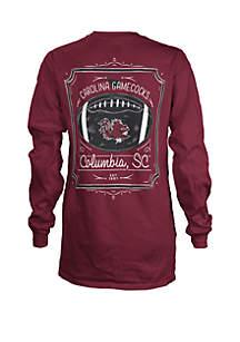 ROYCE South Carolina Gamecocks Long Sleeve Framed Football T Shirt
