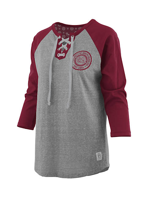 Pressbox USC True Knobi Lace Up Raglan Sleeve