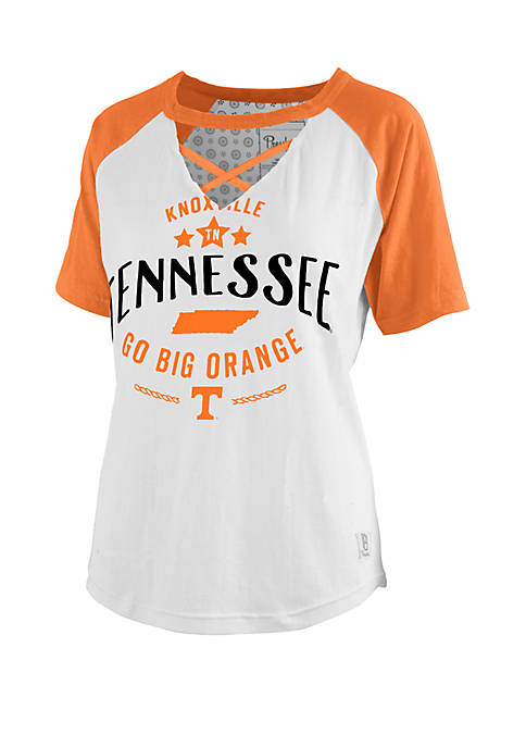 Tennessee Volunteers Cross Neck Baseball T Shirt