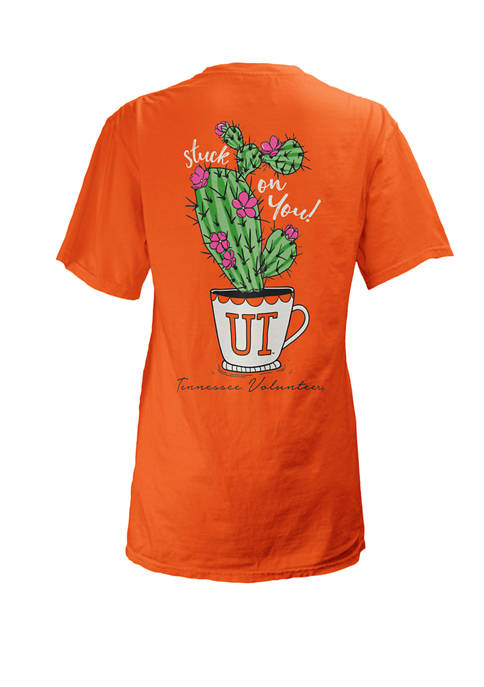 Womens NCAA Tennessee Volunteers Stuck On You T-Shirt