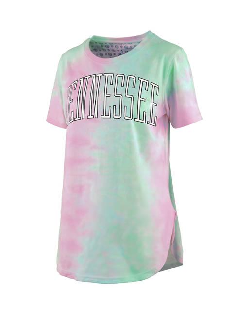 Womens NCAA Tennessee Volunteers Short Sleeve Bay Tie Dye T-Shirt