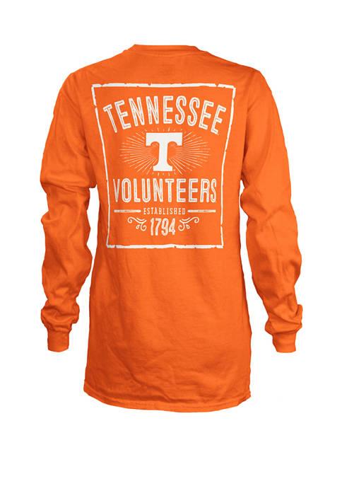 Womens NCAA Tennessee Volunteers Daisy Jersey T-Shirt