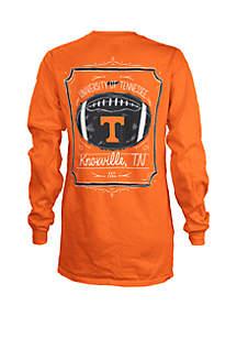ROYCE Tennessee Volunteers Long Sleeve Framed Football T Shirt
