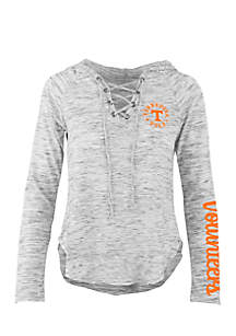 Long Sleeve Tennessee Kate Lace Neck Hooded Tee
