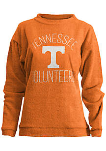 Tennessee Volunteers Thin Arch Mock Neck Twisted Terry Fleece Pullover