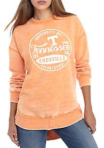 Tennessee Volunteers Surfer Stamp High-Low Fleece Sweater