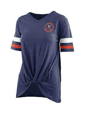 6b3e5c97656 ROYCE Virginia Cavilers Twist Front Knot T Shirt ...