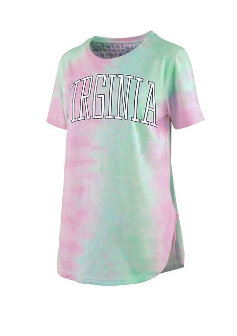 Womens NCAA Virginia Cavaliers Short Sleeve Bay Tie Dye T-Shirt