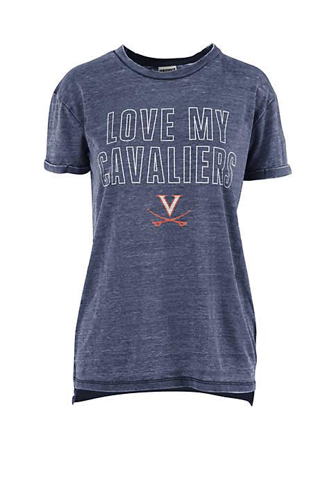 Virginia Cavilers Love Lines Short Sleeve T Shirt