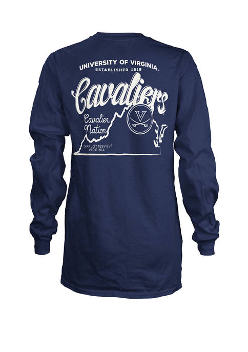 Womens NCAA Virginia Cavaliers State Jersey T-Shirt