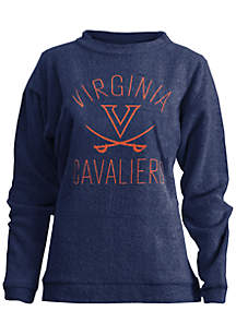 Virginia Cavaliers Thin Arch Mock Neck Twisted Terry Fleece Pullover