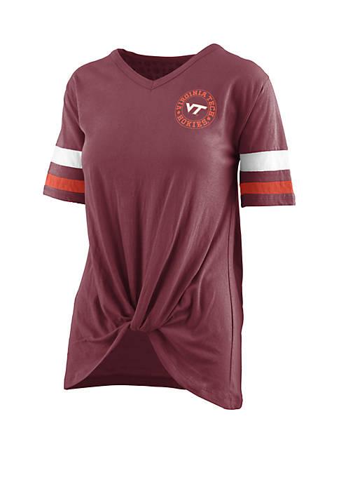 Virginia Tech Twist Front Knot T Shirt