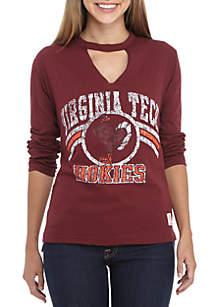 Virginia Tech Hokies Crew Neck Choker Long Sleeve Tee