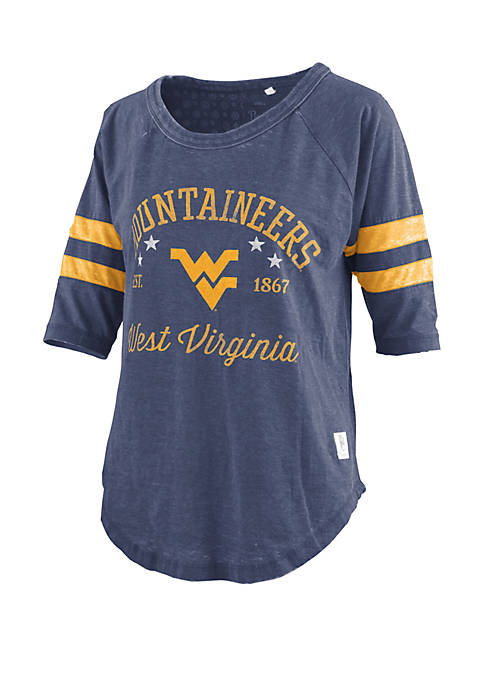 West Virginia Mountaineers Vintage Wash Jersey T Shirt