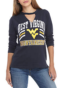 West Virginia Mountaineers Crew Neck Choker Long Sleeve Tee
