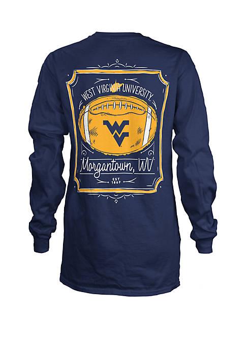 West Virginia Mountaineers Framed Football T Shirt