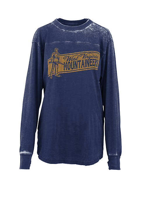 Pressbox WVU Stripes Vintage Wash T Shirt