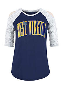 West Virginia Mountaineers Bella Lap Cold Shoulder Tee