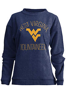 West Virginia Mountaineers Thin Arch Mock Neck Twisted Terry Fleece Pullover