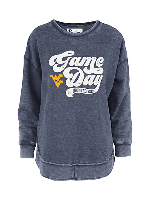 West Virginia Mountaineers Retro Gameday Vintage Wash Fleece Pullover