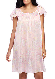 Plus Size Tricot Flutter Nightgown