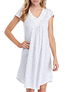 Miss Elaine Sofi Short Knit Sleep Gown