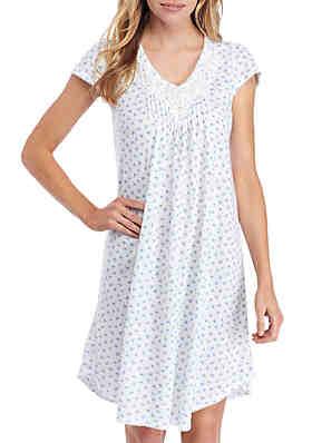 Miss Elaine Sofi Short Knit Sleep Gown ... 21e1f53944a1