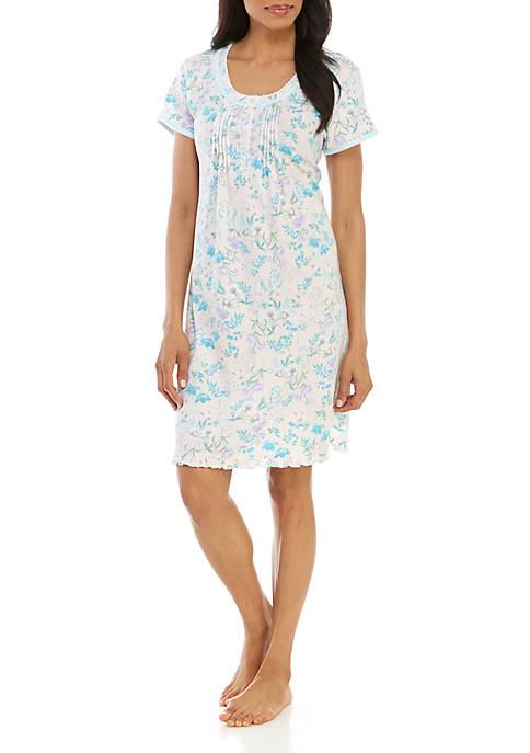 Floral Cottonessa Short Nightgown