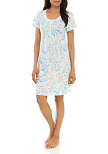 Miss Elaine Floral Cottonessa Short Nightgown