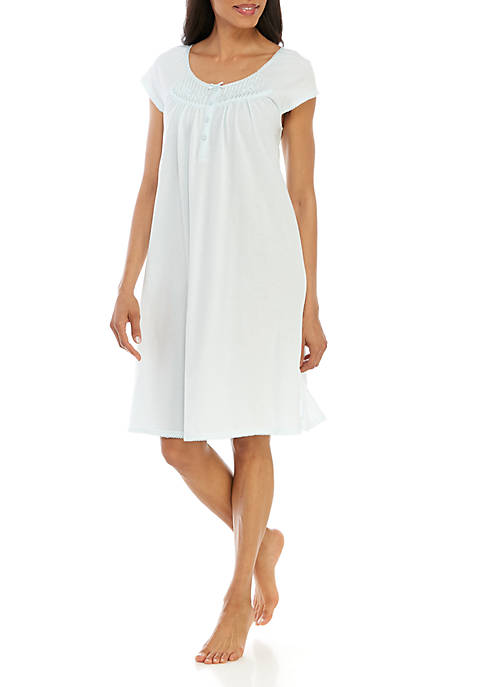 Miss Elaine Silky Knit Short Night Gown