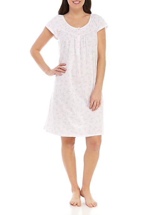 Miss Elaine Silky Night Short Night Gown