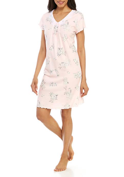 Miss Elaine Cottonessa Short Sleep Gown