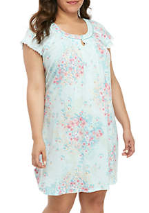Miss Elaine Plus Size Cottonessa Short Night Gown