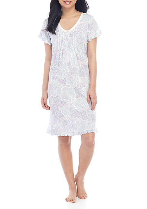 Cottoness Short Nightgown