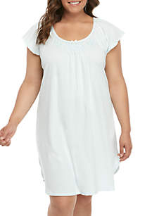 Miss Elaine Plus Size Cottonessa Short Nightgown