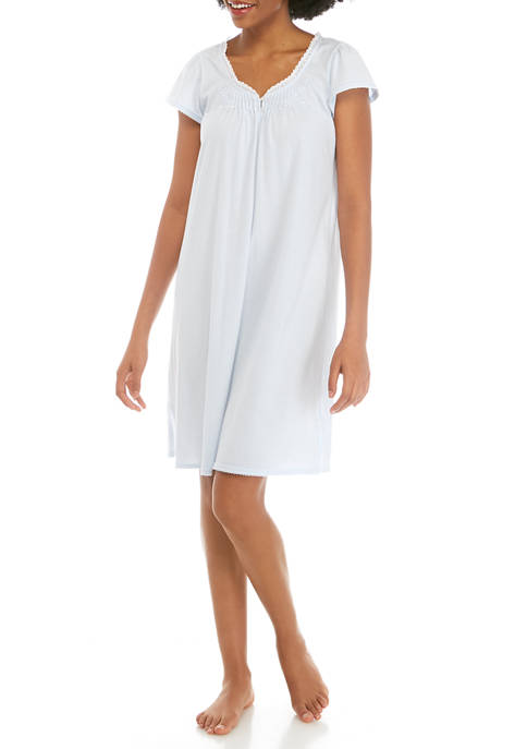 Silky Knit Short Nightgown