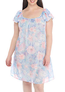 Plus Size Tricot Short Nightgown