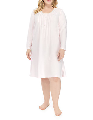 Plus Size Honeycomb Short Night Gown