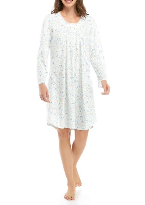 Womens Honeycomb Short Sleep Gown