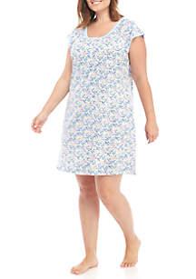 Plus Size Short Gown
