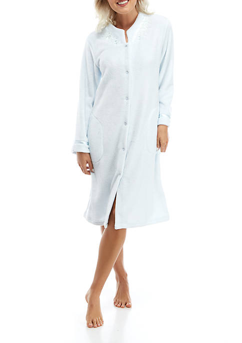 Miss Elaine Womens Honeycomb French Fleece Robe