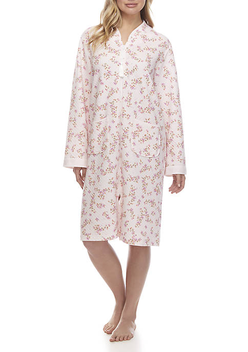 Miss Elaine Quilted Knit Night Robe