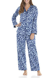 2-Piece Sateen Pajama Set
