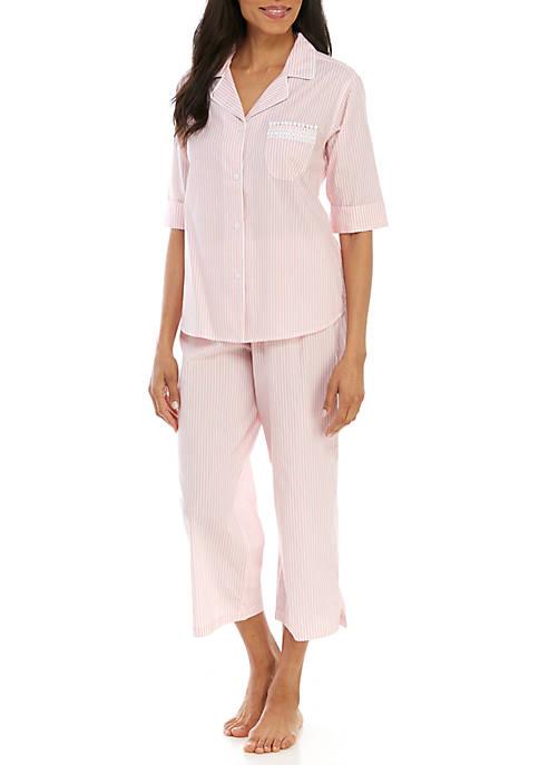 2 Piece Striped Pajama Set