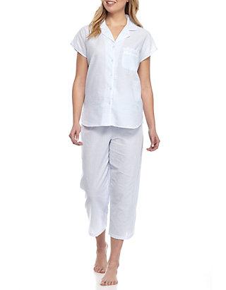 Miss Elaine Striped Seersucker Pajama Set Belk