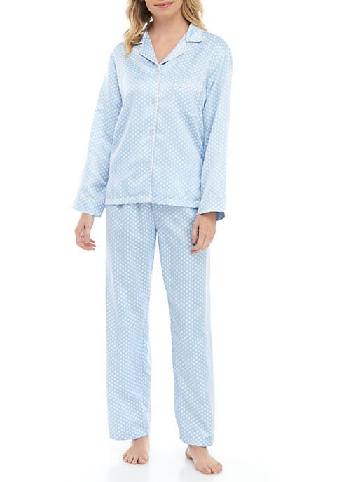 2 Piece Printed Pajama Set