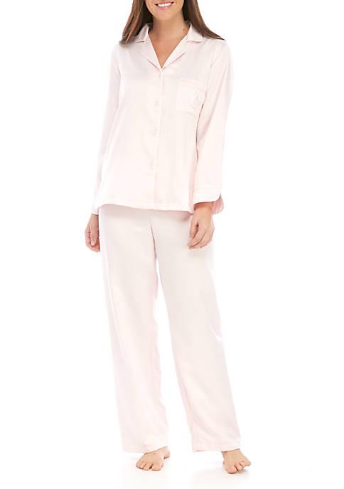 Miss Elaine Womens 2 Piece Pajama Set