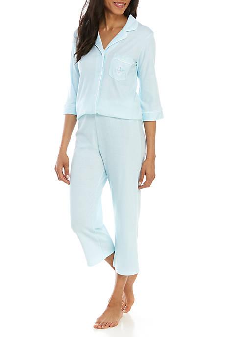 2 Piece Striped Cottonessa Pajama Set