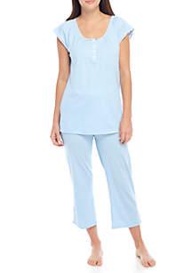 2-Piece Cotton Rayon Pajama Set